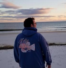 lionfish hoodie - crop